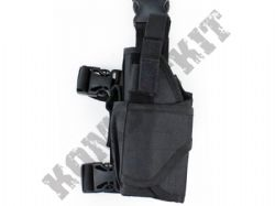Left Leg Gun Holster Fully Adjustable for Airsoft Air Pistols & BB Handguns Black Tactical